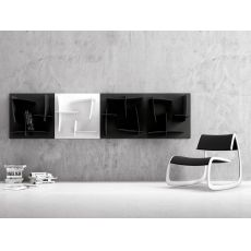 Arigatò - Infiniti design modular bookcase, in technopolymer, different colours