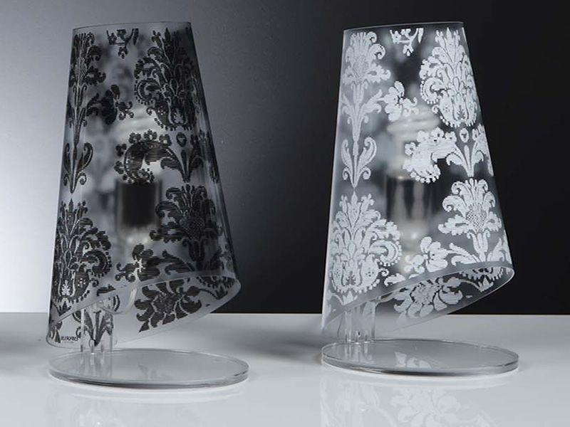 Babette T - Lampada da tavolo moderna in policarbonato, paralume antiriflesso...