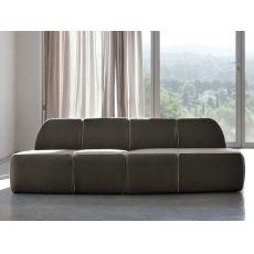 Blum-A - Divano moderno Tonin Casa a 4 posti, con rivestimento in tessuto, pelle o similpelle