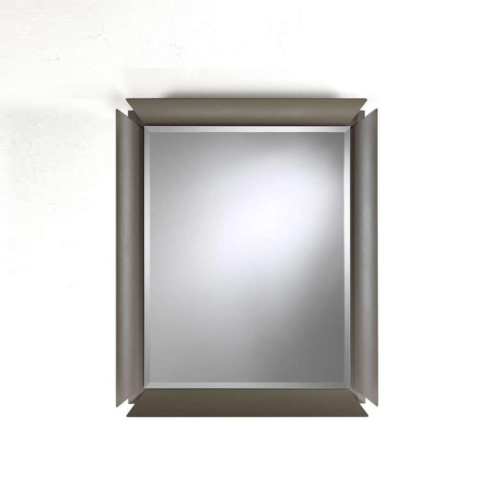 Due meuble entr e avec deux tiroirs miroir et tag re en for Meuble en miroir