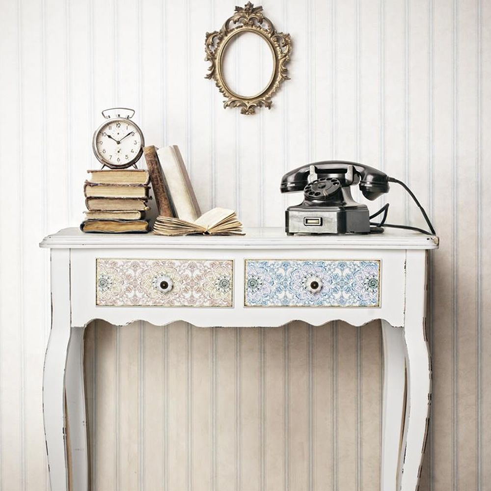 Falesia consolle shabby chic console in wood with two for Consolle shabby chic