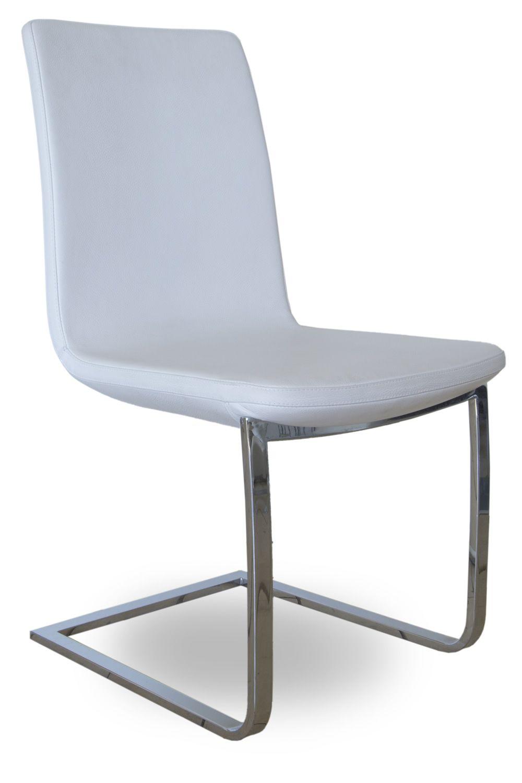 Breeze silla moderna de tonon con estructura tipo trineo for Tapizados de sillas modernas