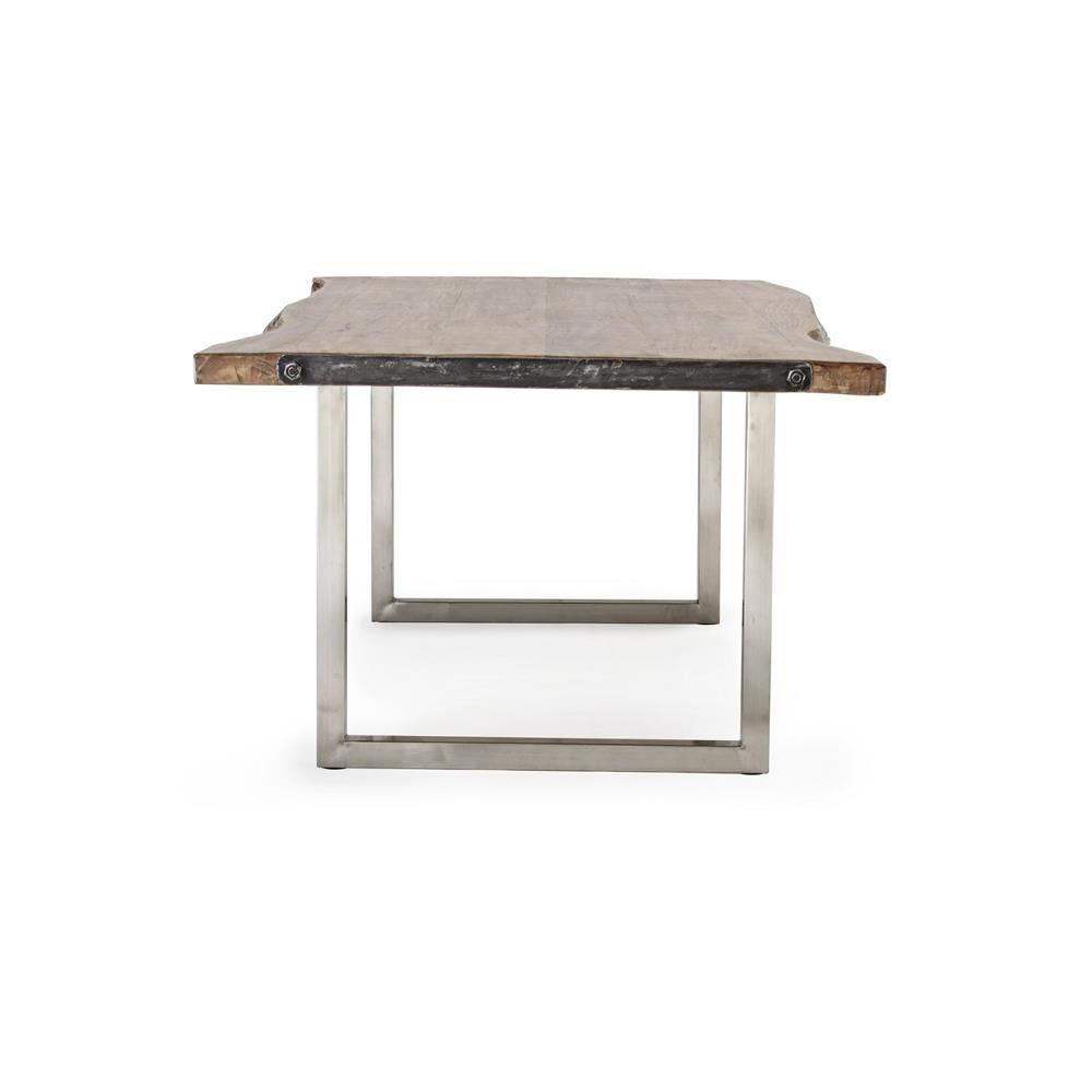 Timboct t table moderne fixe mesurant 220x100 cm avec - Table en acier inoxydable ...