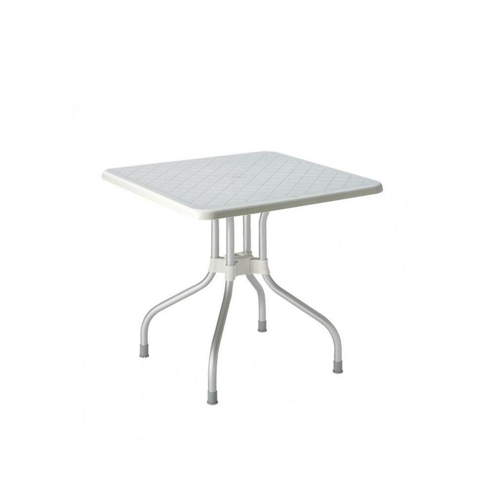 Ribalto Top 188 Table Jardin Plateau Rabattable M Tal And Polypropyl Ne 80x80 Cm Ou 95 Cm