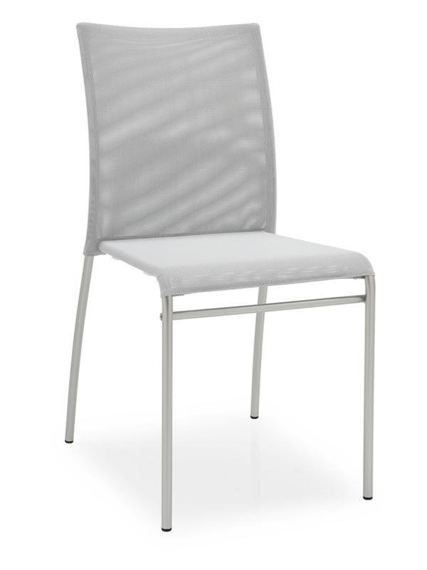 362 per bar e ristoranti sedia in metallo impilabile for Sedie da cucina in acciaio satinato