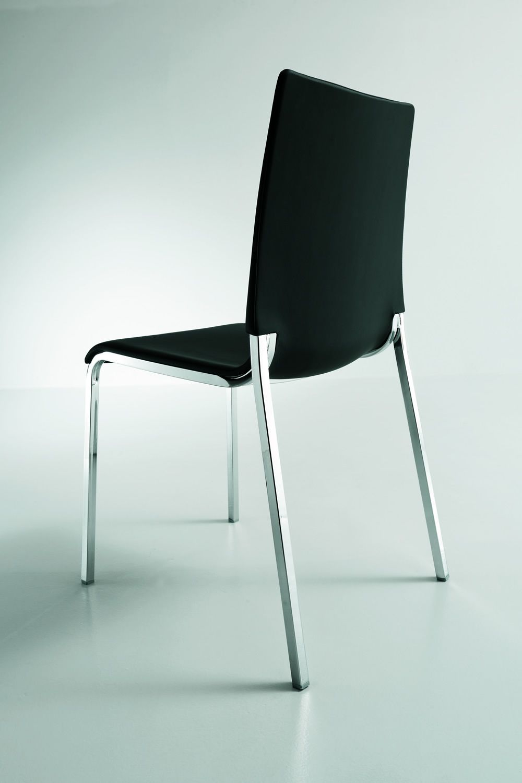 eva soft gepolsterter stuhl bontempi casa aus aluminium in verschiedenen farben und mit. Black Bedroom Furniture Sets. Home Design Ideas