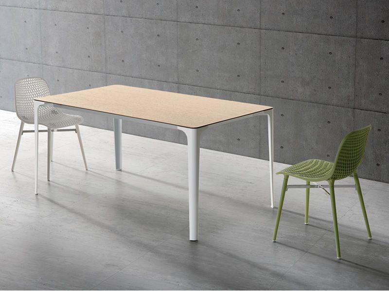 Mat - Tavolo allungabile Infiniti in alluminio, piano in Newpann o ...