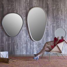 Grimilde - Specchio Miniforms, con cornice in lagno laccato, varie dimensioni disponibili