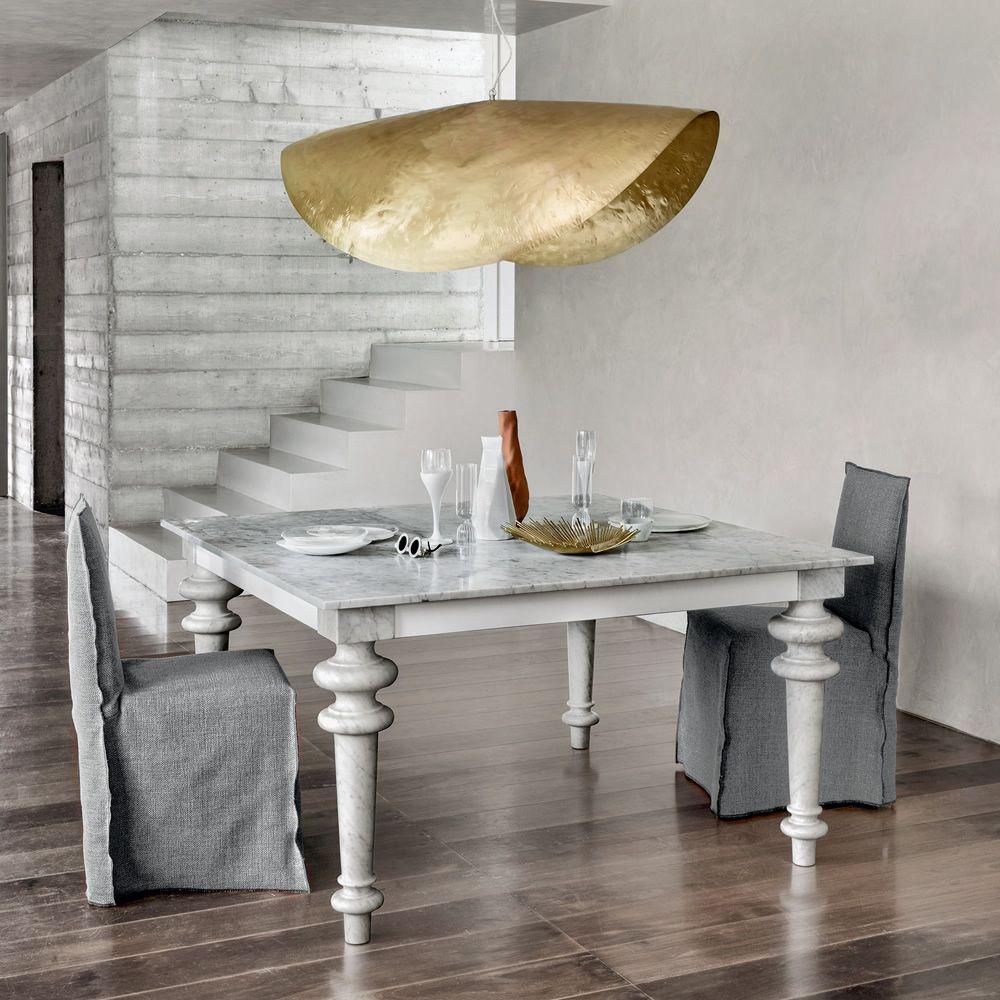Tavolo In Marmo Bianco.Gray 32 Tavolo Quadrato Gervasoni In Marmo Con Piano In