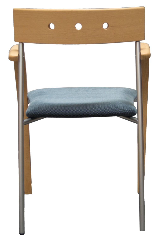 Bemerkenswert Stuhl Holz Dekoration Von Equinox - Mit Und Metall, Gepolsterter Sitz