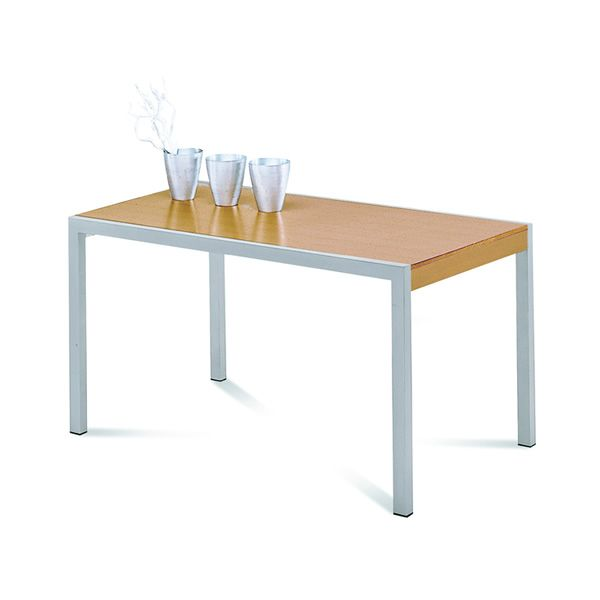 Master table domitalia en m tal plateau m lamin en 140 for Table hetre avec rallonge