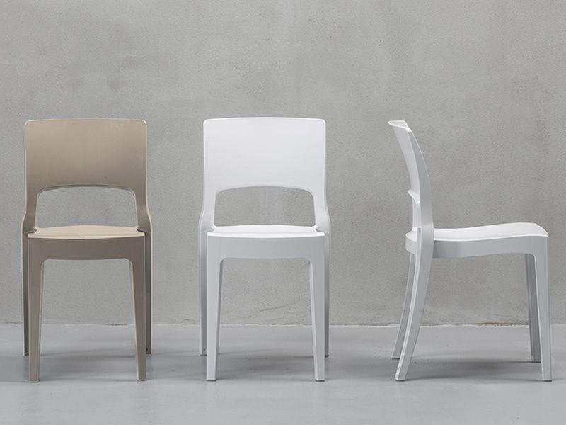 Isy tecno 2327 sedia design in tecnopolimero impilabile for Sedie policarbonato