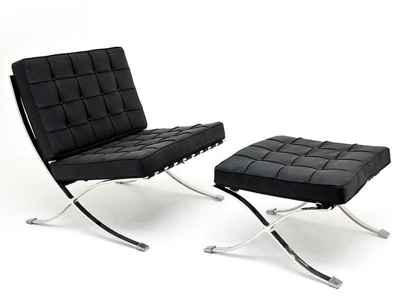 ml201 fauteuil design avec structure en acier chrom. Black Bedroom Furniture Sets. Home Design Ideas