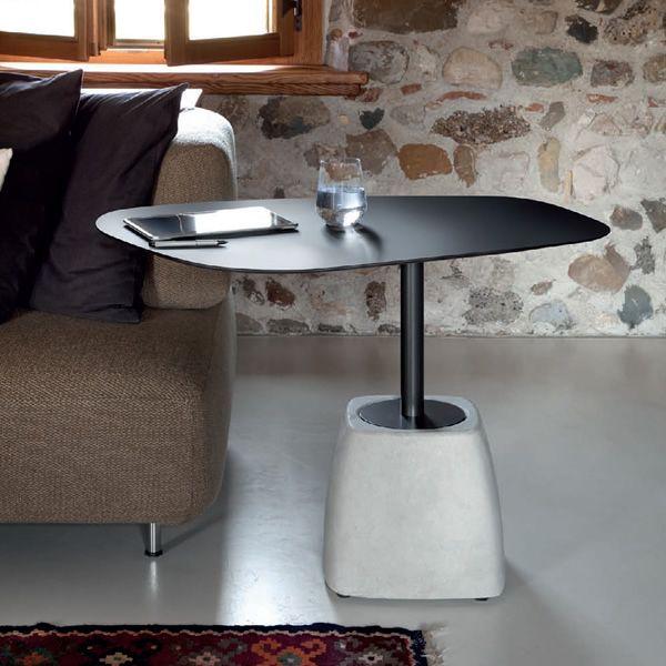 urban cg table basse domitalia en acier et ciment. Black Bedroom Furniture Sets. Home Design Ideas