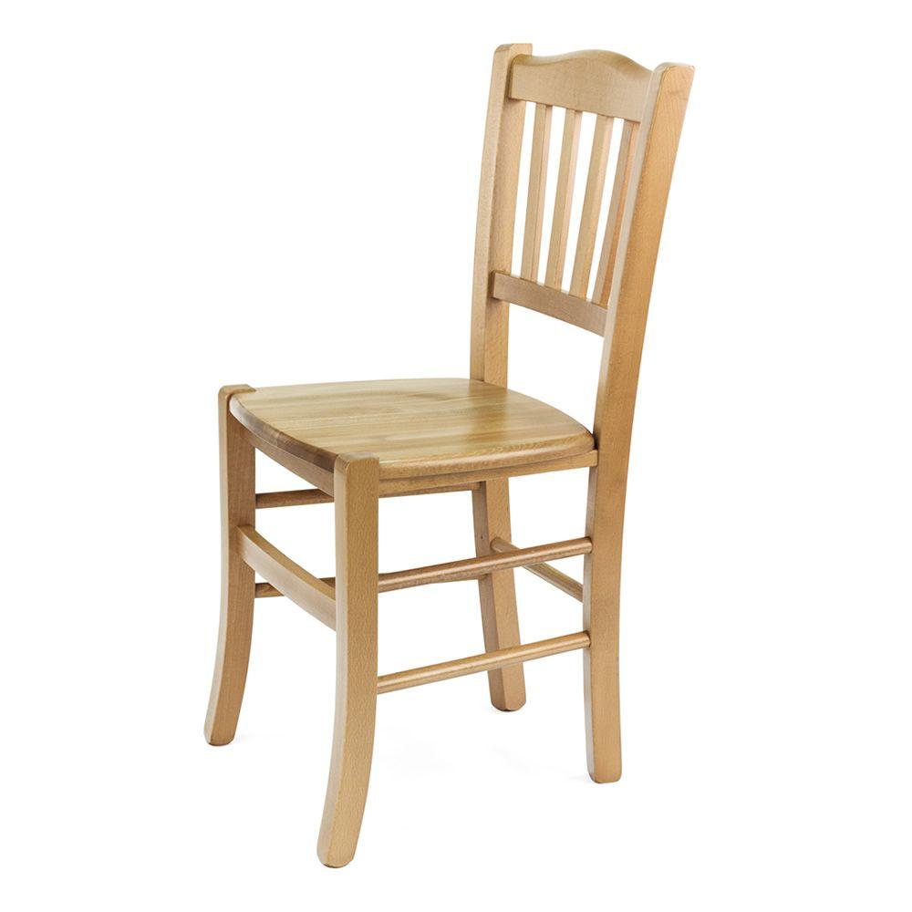 Mu85 para bare y restaurantes silla r stica de madera for Sillas de madera para bar