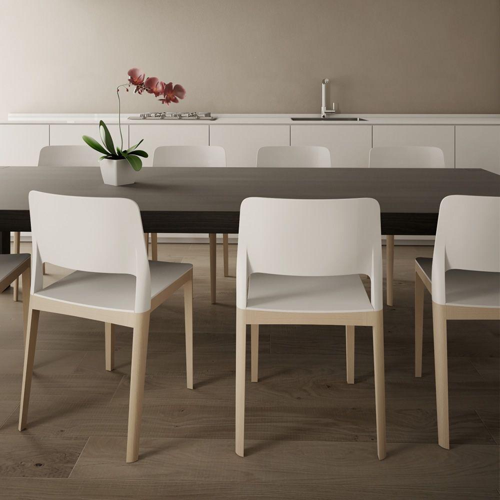 Settesusette - Sedia Infiniti in legno, seduta e schienale in ...