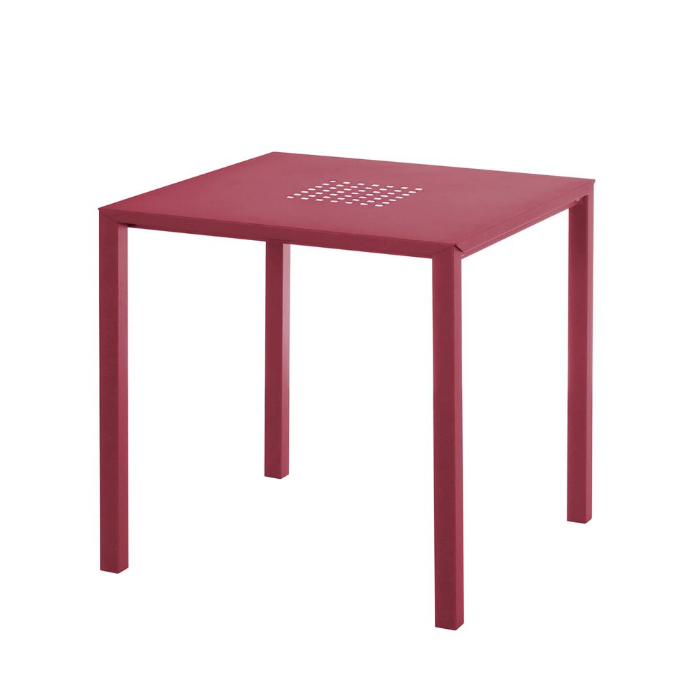 Jolly table emu en m tal empilable plan de travail - Plan de travail carre ...