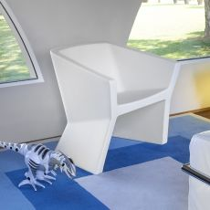 Exofa - Poltrona di design Slide, in polietilene, diversi colori, anche per giardino