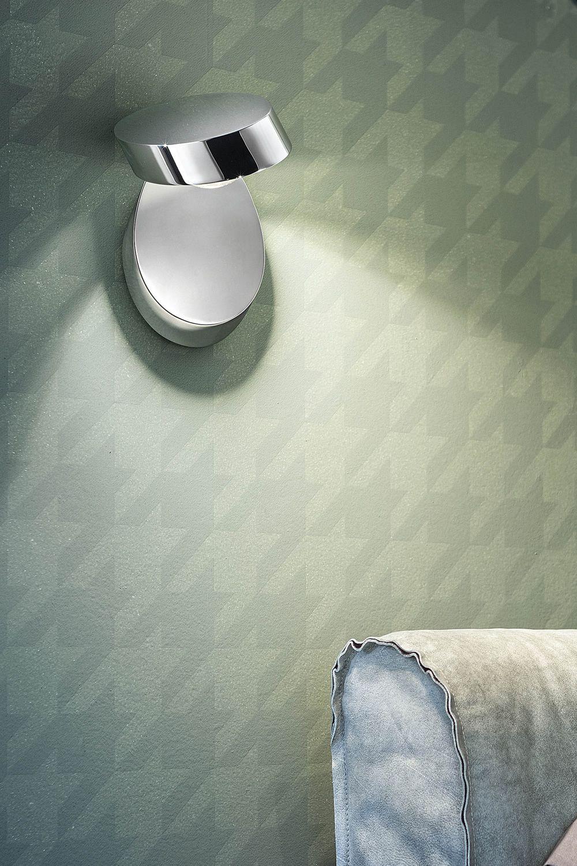 Pin up lampada a parete di design orientabile in metallo con luce led - Lampada parete design ...