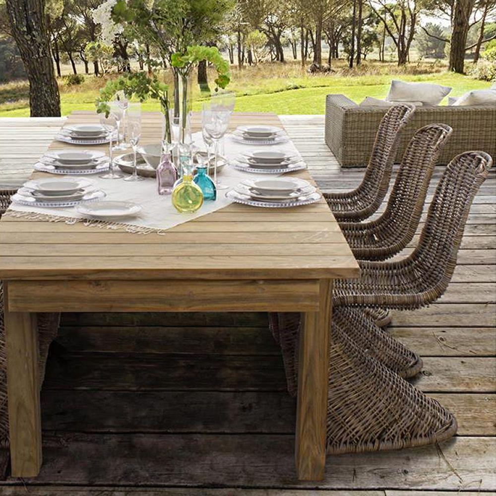 Nevis - Tavolo allungabile in teak, 220x100 cm, anche per esterno ...