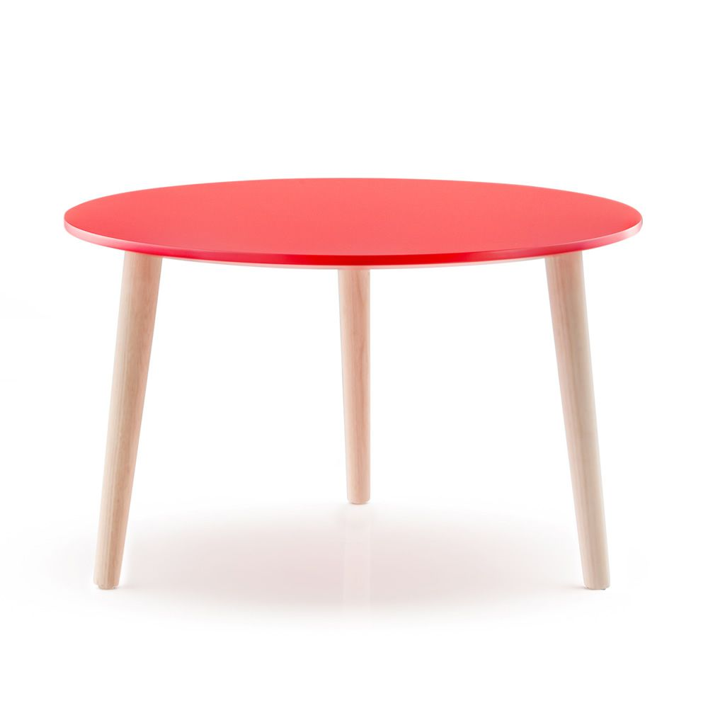 Malm 246 T Small Design Wooden Table By Pedrali With Round