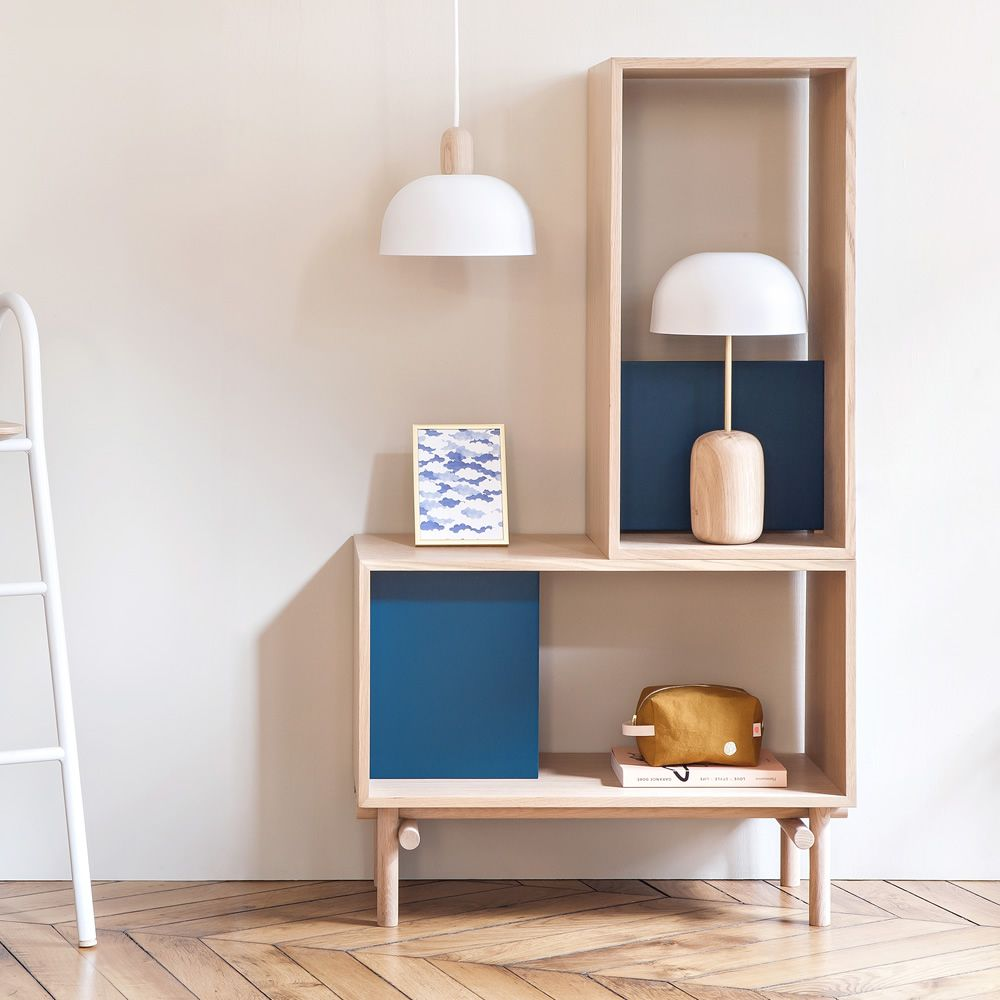 Modular Design Bookcase, In Wood And MDF