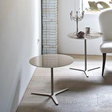 Elica - Tavolino di desing Bontempi Casa, con struttura in metallo e piano in vetro, diversi colori disponibili
