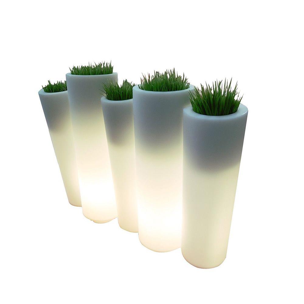 Simple bamboo vaso in polietilene con sistema di anche per for Vasi decorativi da interno