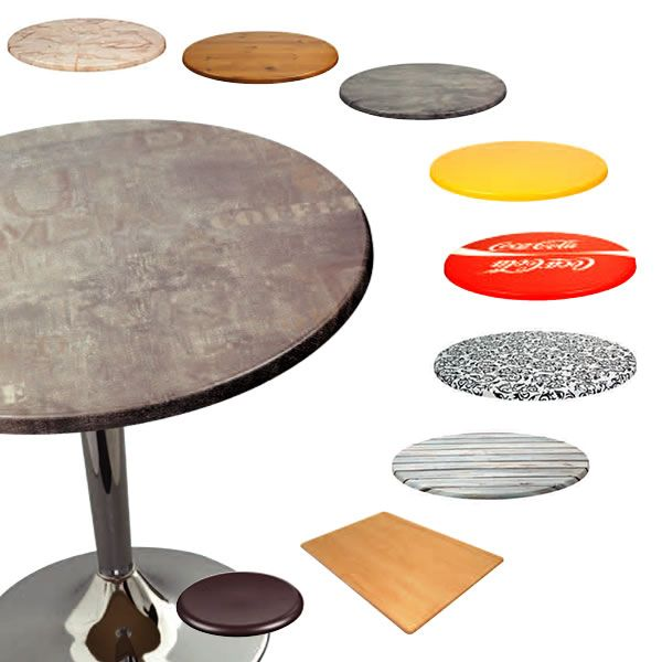 Werzalit tops pour bars et restaurants plateau de table for Plateau rond pour table