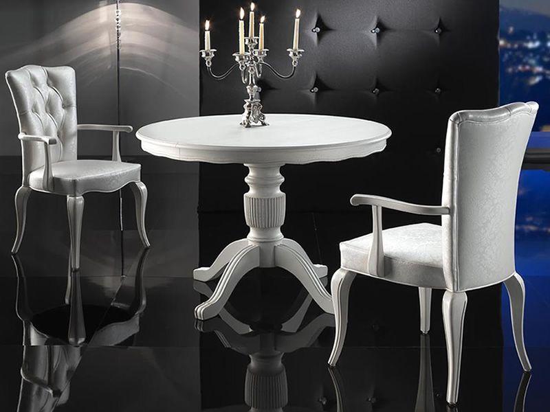 Hetre Bois Traduction : VST152: Table en bois classique, plateau avec diam?tre 120cm, ?