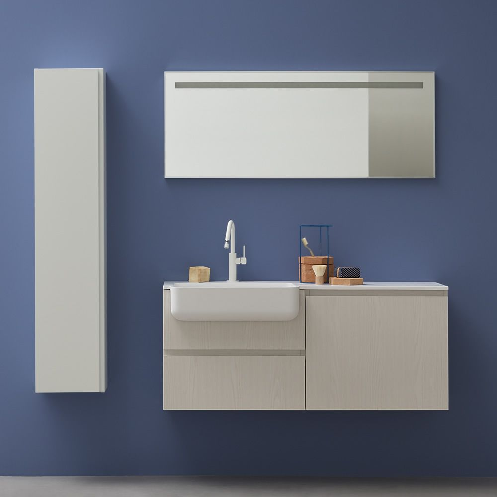 Lapis e mobile bagno sospeso con lavabo cassetti disponibile in diversi colori sediarreda - Mobile bagno rosso ...
