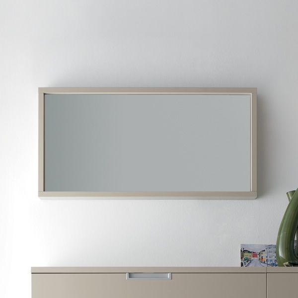 Cinquanta m miroir rectangulaire avec cadre en bois for Bureau 100x50