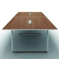 Office X7 Meet 02 - Tavolo da riunione in metallo e laminato, 320 x 140 cm, disponibile in diverse finiture