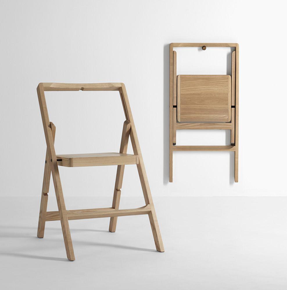 Mini Step Klappbarer Stuhl aus Holz