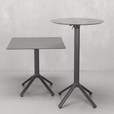 Nemo 5070 - Table base for bar or restaurant, in aluminium, with or without folding mechanism, available in different dimensions and colours, also for outdoor