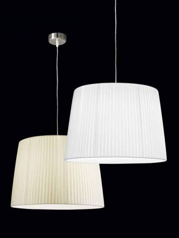 FA2960S: Pendant lamp made of metal and fabric, different colours and ...