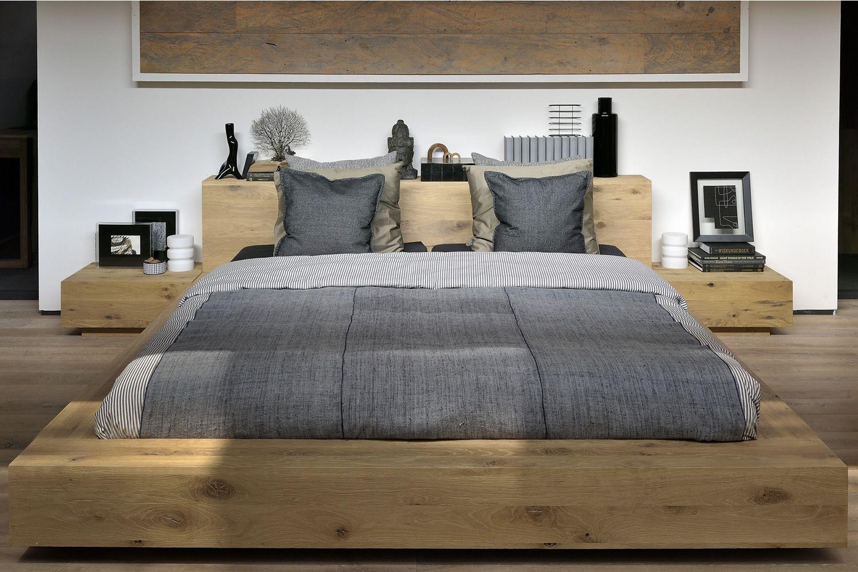madra doppelbett ethnicraft mit holzgestell in verschiedenen gr en verf gbar sediarreda. Black Bedroom Furniture Sets. Home Design Ideas