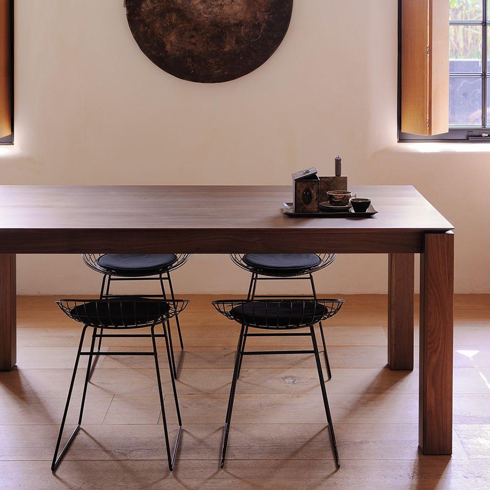 slice a table ethnicraft en bois disponible en diff rentes finitions 160 x 90 cm extensible. Black Bedroom Furniture Sets. Home Design Ideas