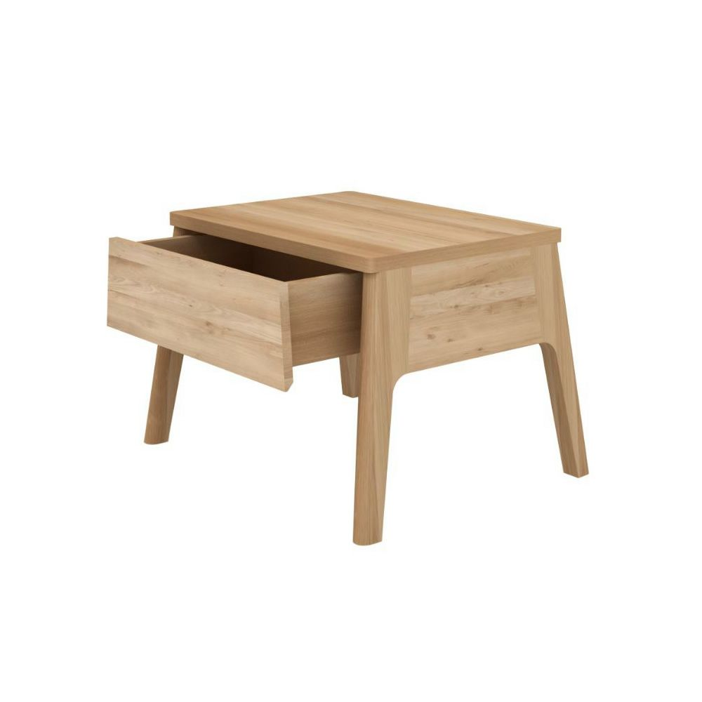 Air n mesita de noche ethnicraft de madera con caj n - Mesitas de noche en madera ...