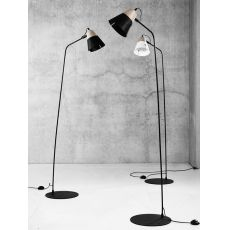 Cone F - Universo Positivo floor lamp made of wood and metal, different colours available