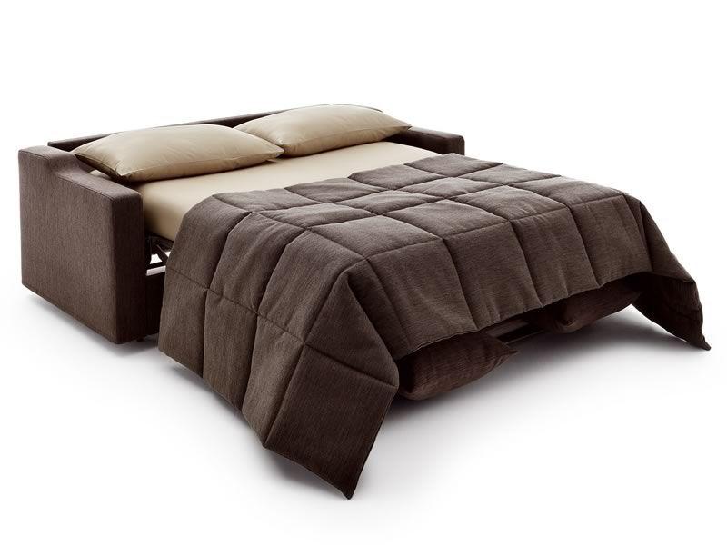 Eros divano letto moderno a 2 o 3 posti maxi con - Divano letto aperto ...