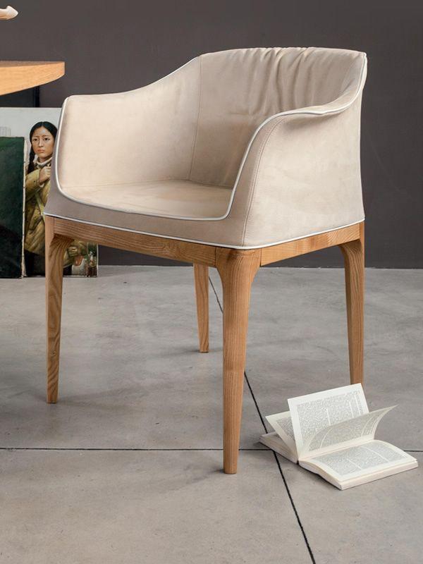 mivida 7213 sessel tonin casa aus holz mit leder oder kunstleder bezogen sediarreda. Black Bedroom Furniture Sets. Home Design Ideas