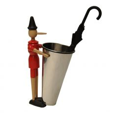 Pinocchio Basket - Valsecchi umbrella stand-waste basket made of wood and metal, different finishes available