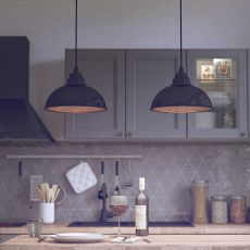 Botega - Lampada a sospensione in ceramica, disponibile in diversi colori