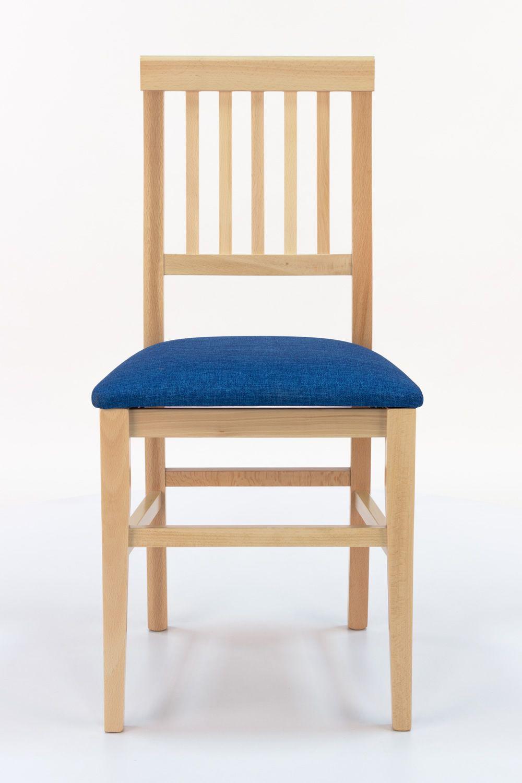 Mu36 silla moderna en madera con asiento acolchado for Tapizados de sillas modernas