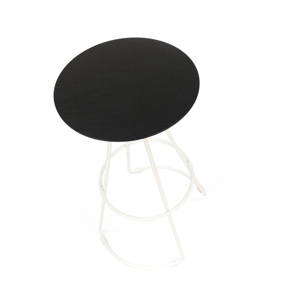Stopper taburete fijo de metal asiento de madera - Asientos para taburetes ...
