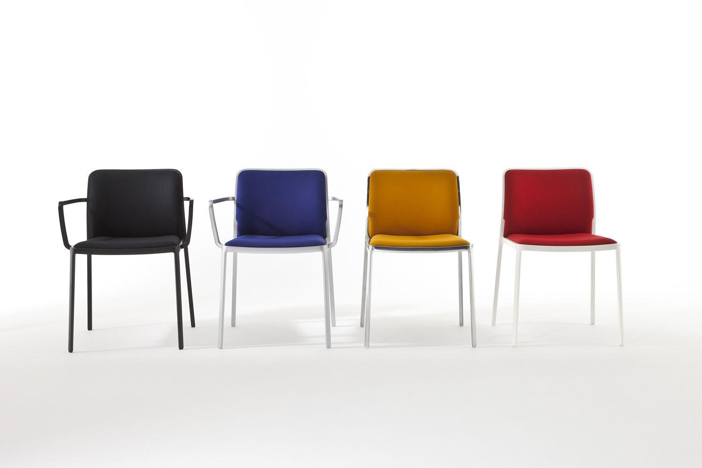 Sedia Imbottita Design : Audrey soft sedia kartell di design in alluminio con seduta e
