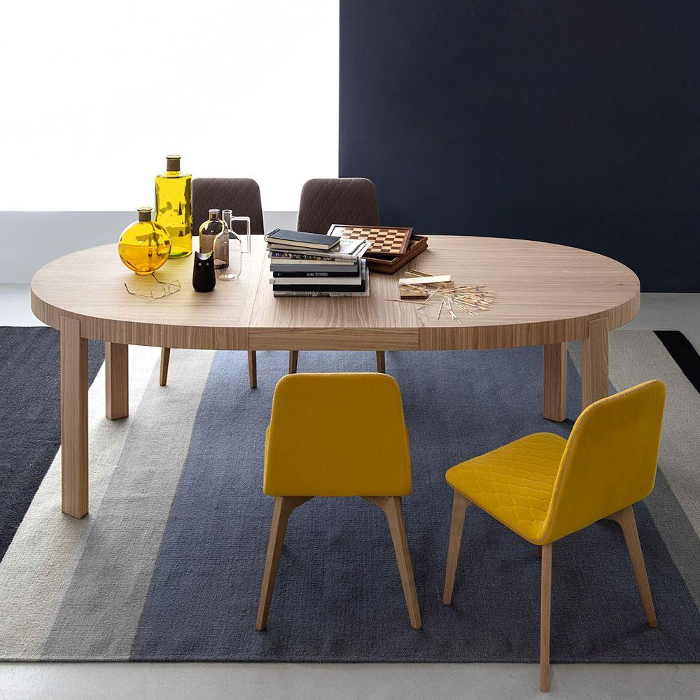 CB398-E Atelier - Tavolo Connubia - Calligaris in legno, piano ovale ...