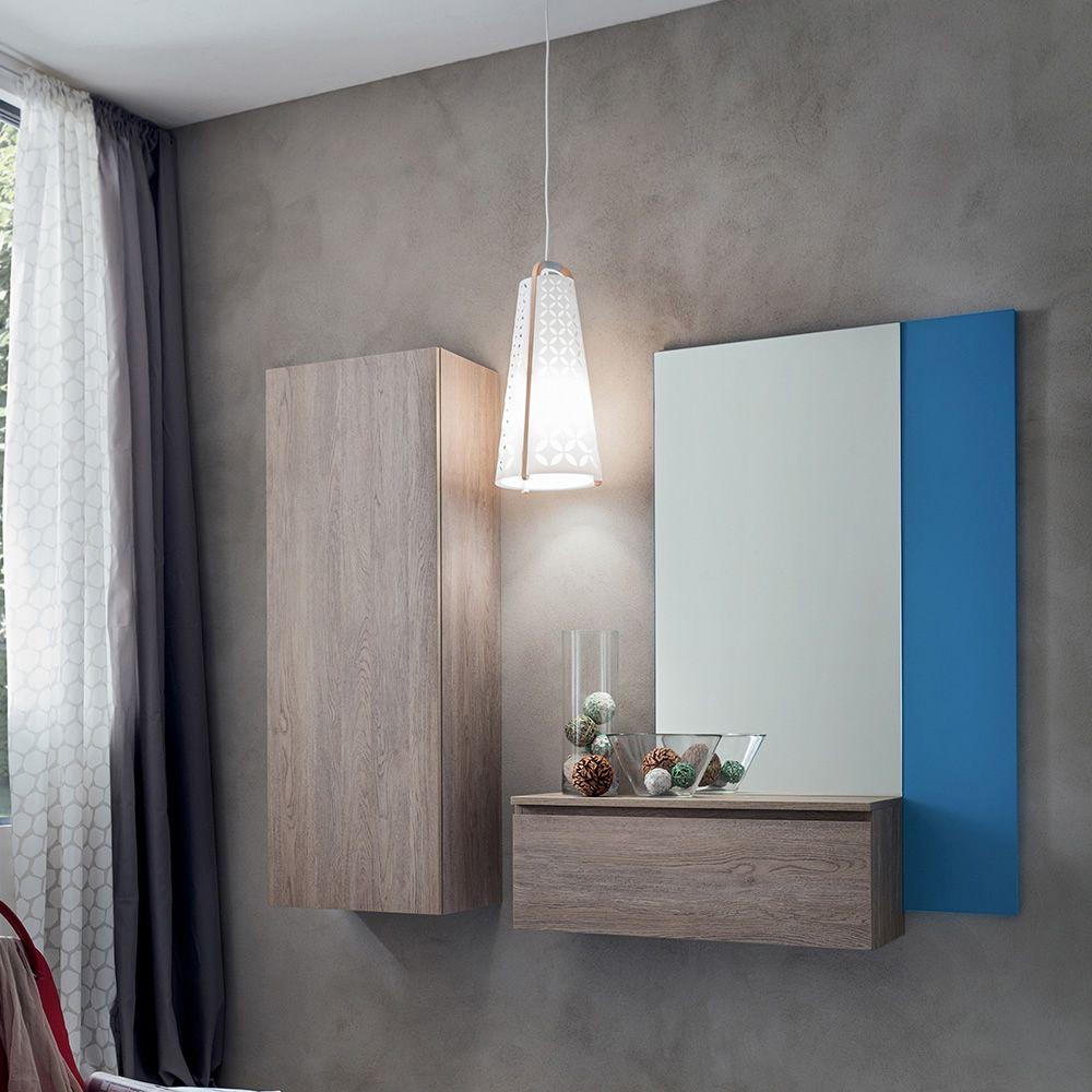 Pa632 mobile ingresso con specchio e armadio disponibile in diversi colori - Mobile d ingresso ...