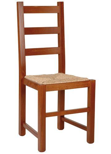 Mu82 chaise rustique en bois diff rentes teintes - Chaise en bois rustique ...